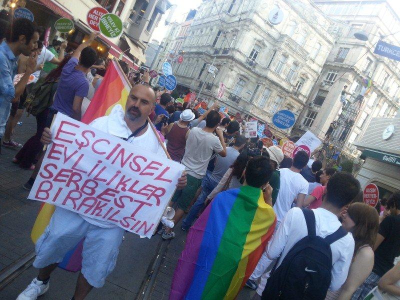 Gay Pride parade in Istanbul 2012