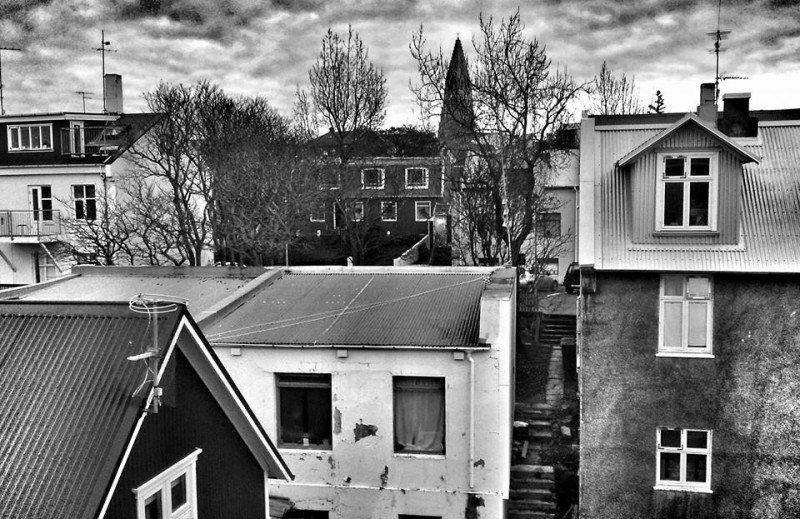 Reykjavik from my window at Hotel Holt