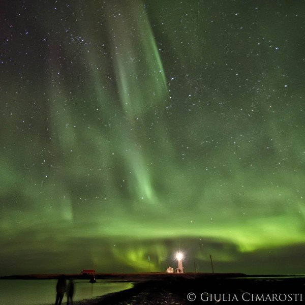 Romantic photo of the Northern Lights
