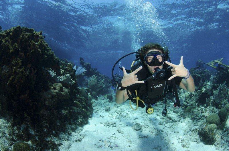 Me diving in Roatan