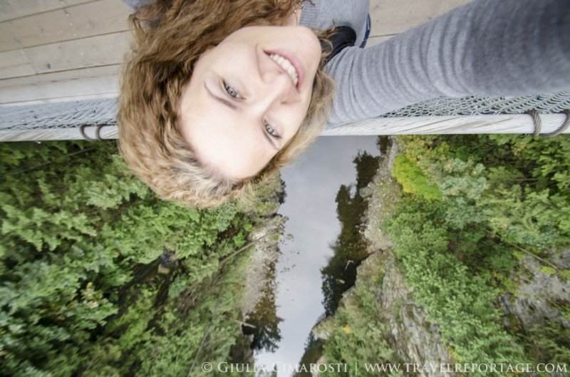 A selfie on the Capilano Suspension Bridge. Rule #1 don't drop your camera!