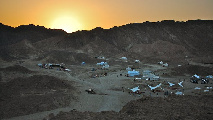 Sunset at the camp in Wadi Gamal, Egypt - © Giulia Cimarosti