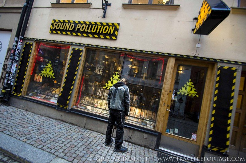 A record store in Gamla Stan, specialising in hard rock and alternative music