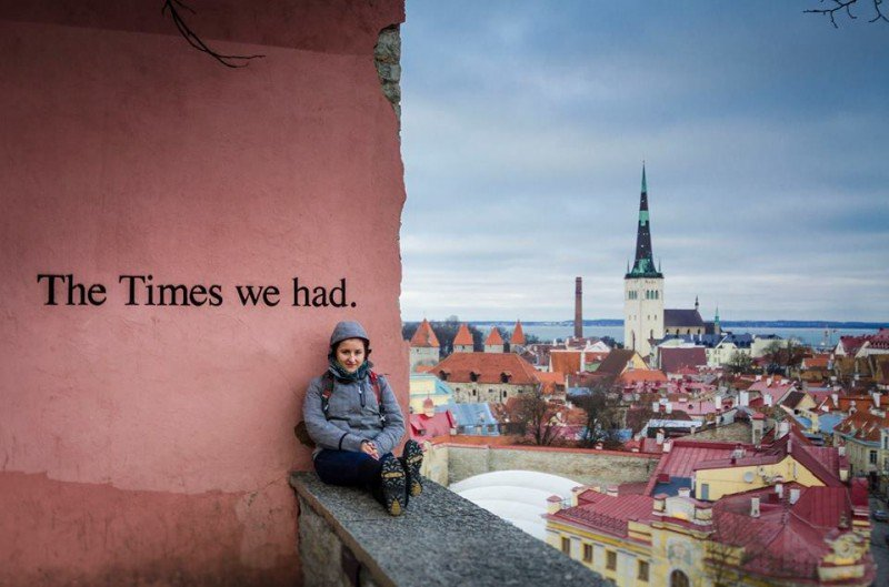Me and Tallinn. Freezing my beep off again but in love with the city!