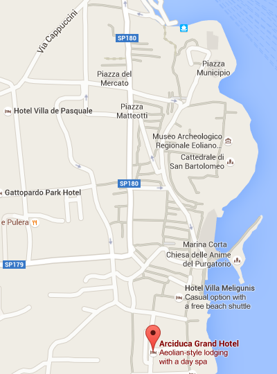 Grand Hotel Arciduca Lipari - Location