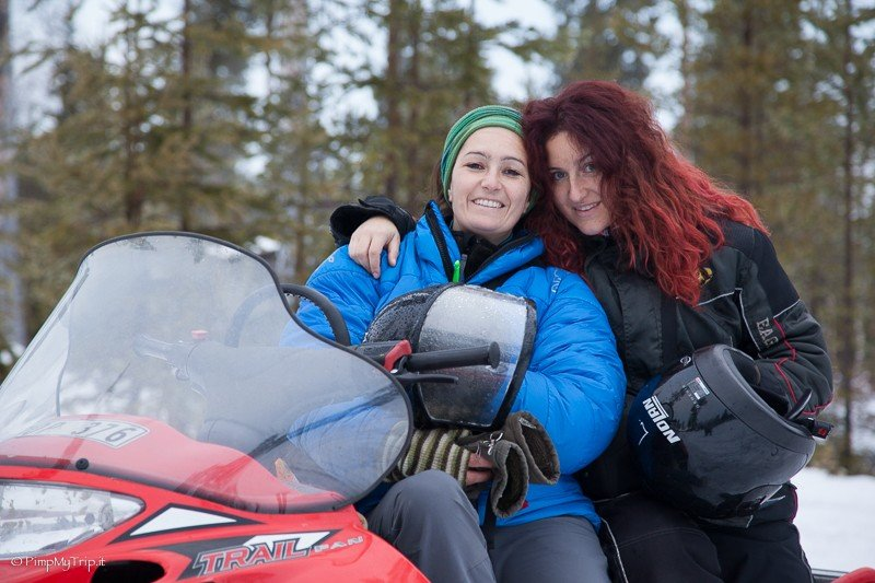 Snowmobile safari in the Swedish Lapland