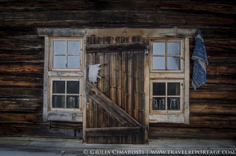 The door of the sauna