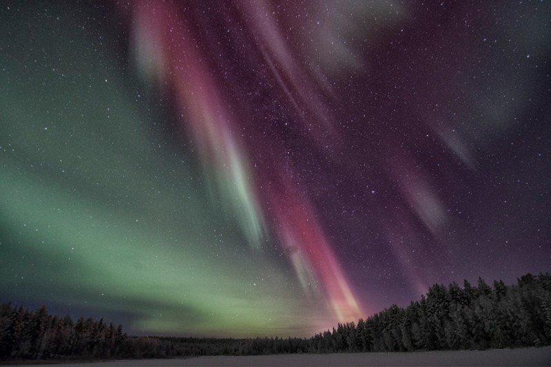 Aurora borealis in Osterjorn