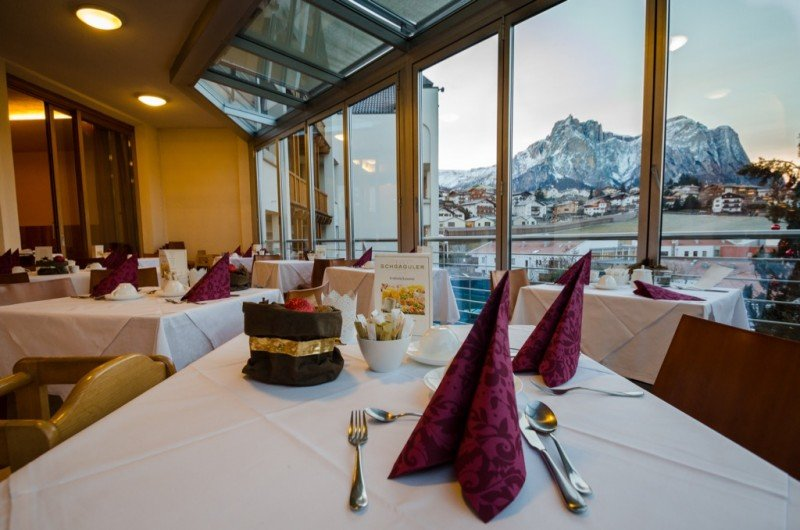 Breakfast at Hotel Schgaguler - Dolomites Italy