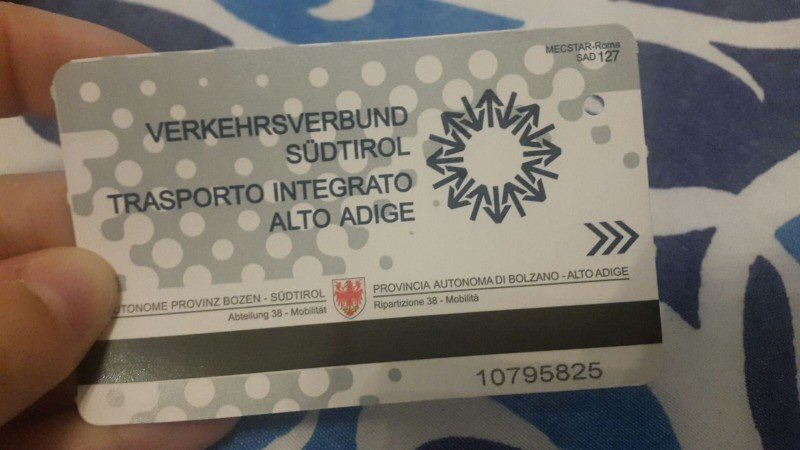 Free Transportation Card for South Tyrol