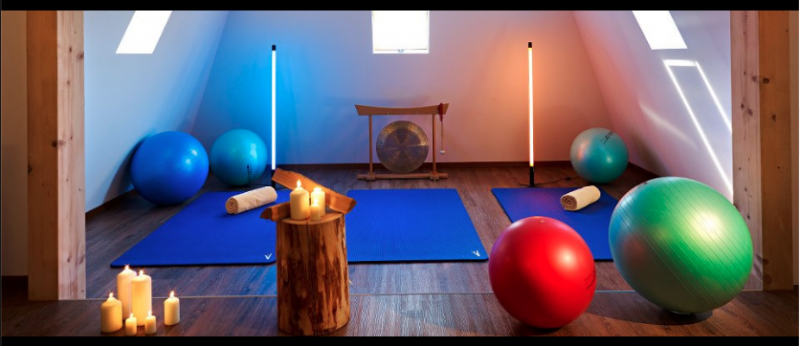 The room where Qi-Gong and gym classes took place at Hotel Schulerhof