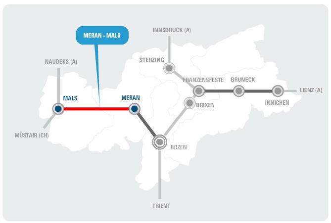 The Vinschgau Railway: Meran to Mals