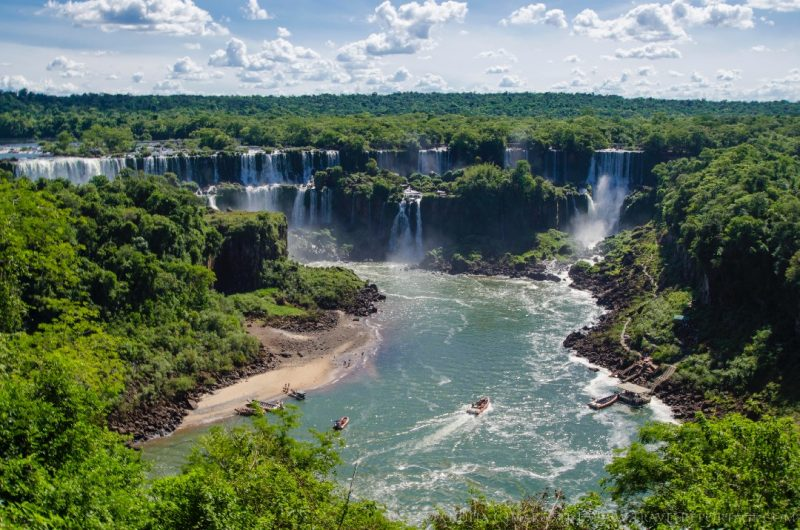The Iguazu Falls as seen from the Brazilian side