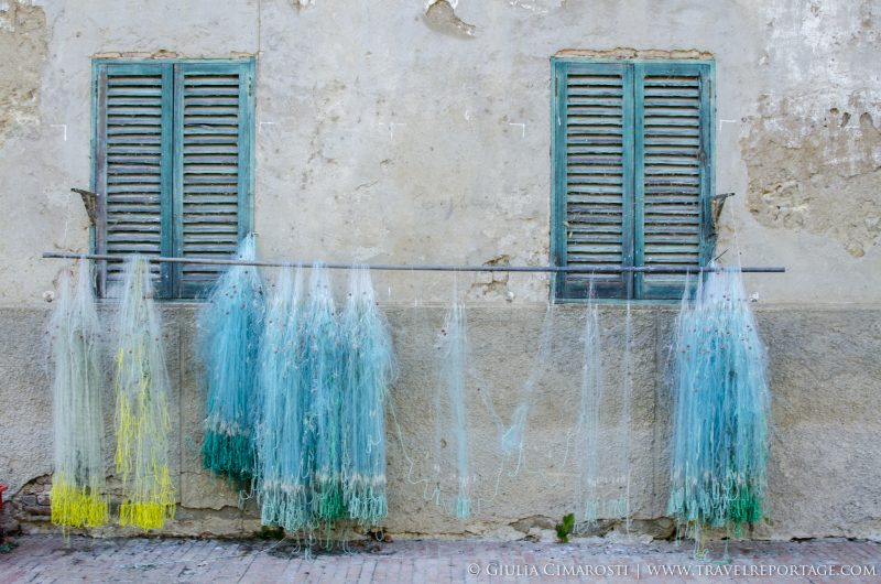 Sailors' nets at Isola Maggiore, Lake Trasimeno