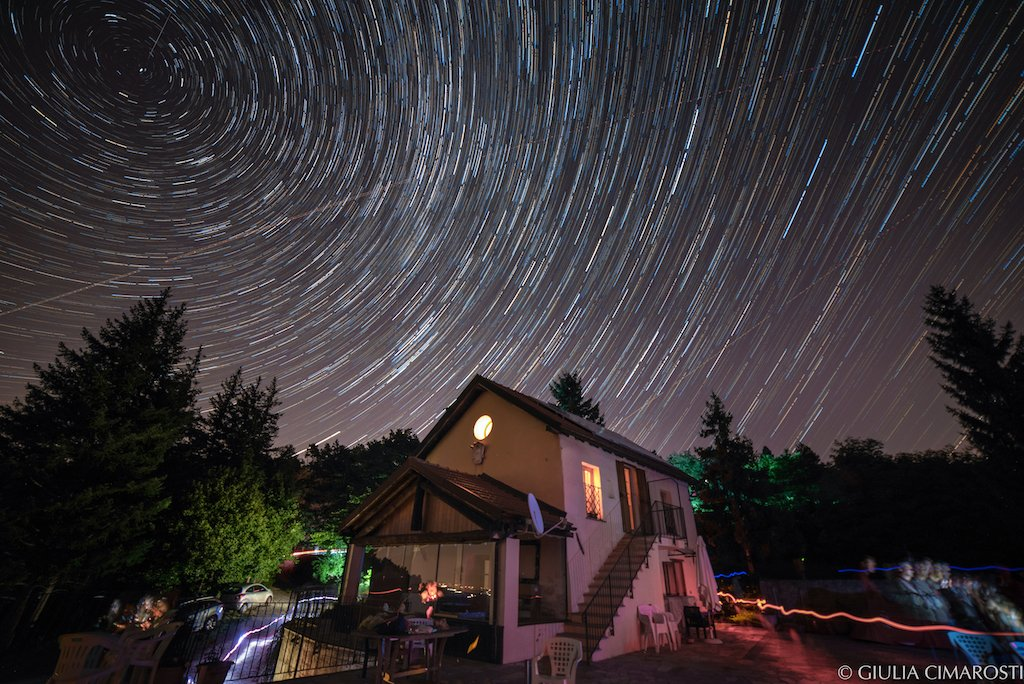 Startrail made with Andoer Youpro intervalometer and Samyang 14mm f/2,8 lens