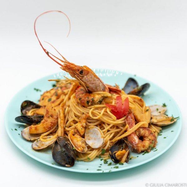 Portable Studio Photography - Spaghetti Shrimp
