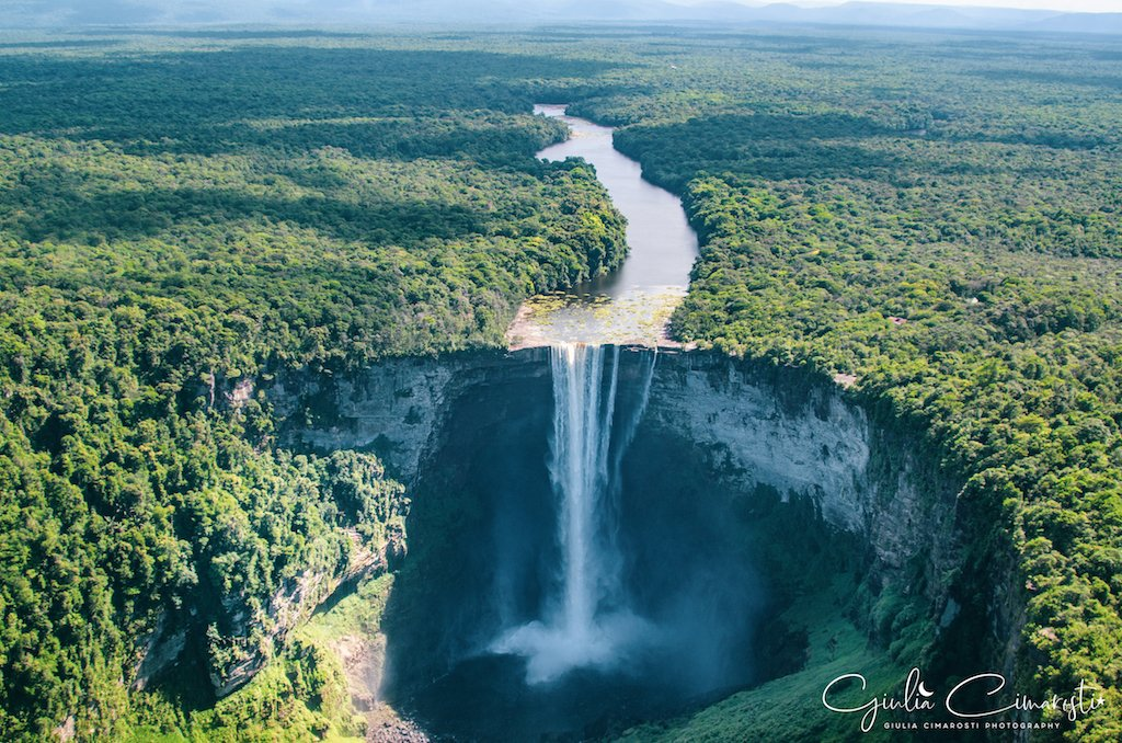 Guyana: Kaieteur Falls as seen from the plane