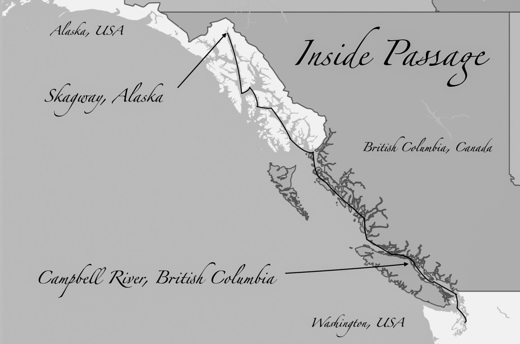The Inside Passage map