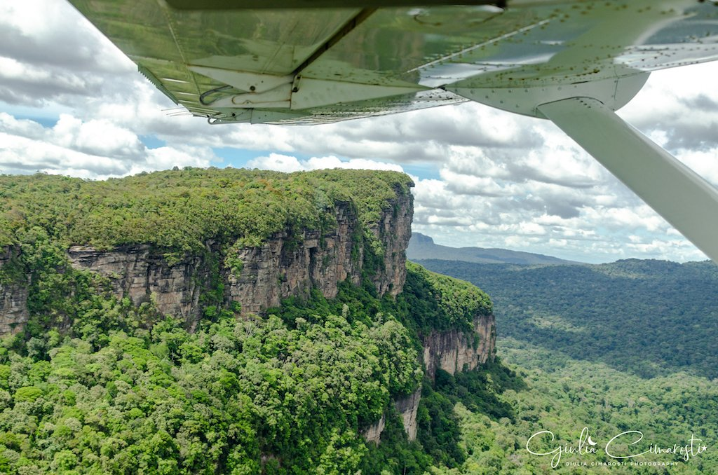 Flying over the jungle in Guyana